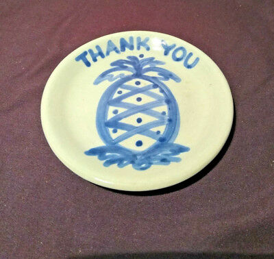 Stoneware Coaster Pineapple Thank You Traditional Hostess Gift MA Hadley