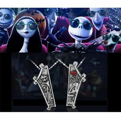 Disney The Nightmare Before Christmas Jack Skellington Sally 2 Pc Necklace Set