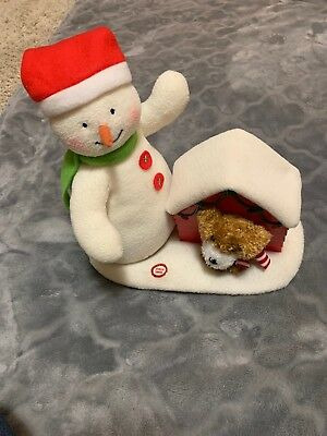 2011 HALLMARK DECK THE HALLS Jingle Pals Snowman And Dog ☃️