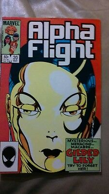 Alpha Flight #20 1985 Gilded Lily John Byrne Marvel