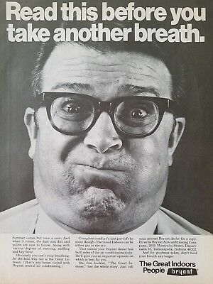 1969 Bryant Air Conditioning heating Great Indoors before take another breath ad