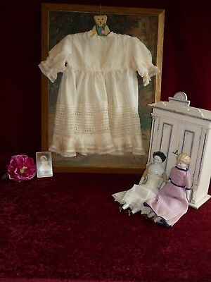 Lovely Antique/Vintage Silk Baby/Doll Dress GC