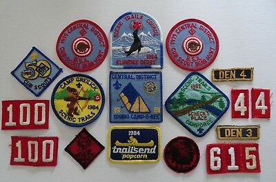 1980's Boy and Cub Scout Patches Lot of 17 Patches