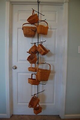 Amish Hand Made Wrought Iron Hanging Tree Hanger For 19 Longaberger Baskets