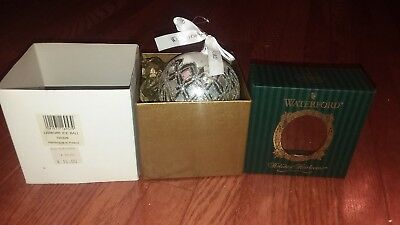 Waterford Holiday Heirlooms Christmas Ornament Lismore Ice Ball ~ With Box