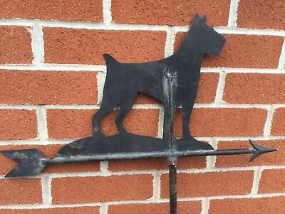 Vintage Painted Copper Dog Weathervane Terrier Primitive Folk Art