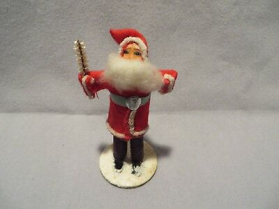"Vintage 3 1/2"" Tall Clay Face Santa Figure - Japan"