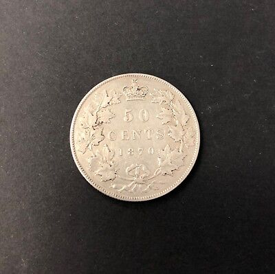 Canada 1870 (LCW) 50 Cent Coin in good Fine condition