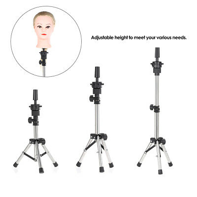 Adjustable Mannequin Head Hold Tripod Hairdressing Training Head Holder Stand
