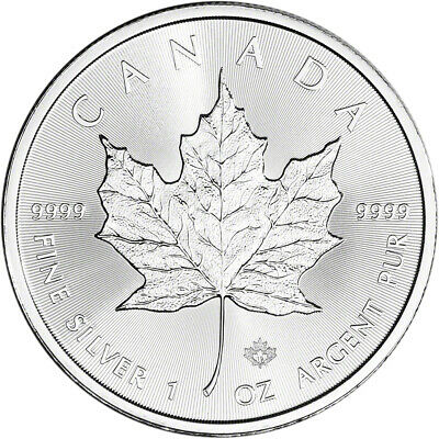 2019 Canada Silver Maple Leaf - 1 oz - $5 - BU