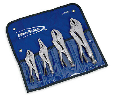 NEW Blue-Point Tools 4 Piece Locking Combination Pliers Set BLP404  SHIPS FREE