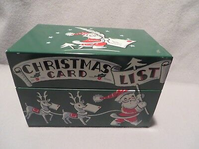 Vintage Christmas Card List Metal Box by Stylecraft - Mid Century Modern