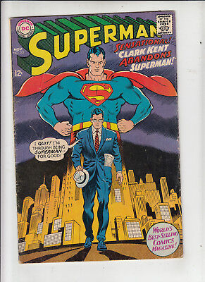 Superman #201 (DC 1967) VG/Fine