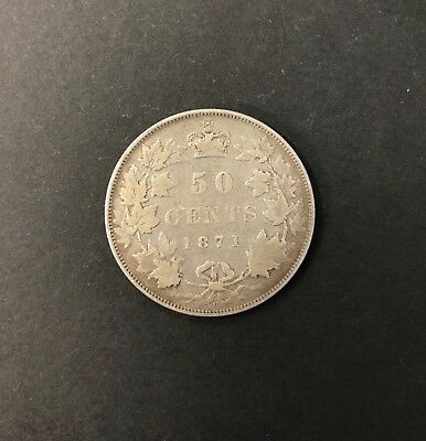 Canada 1871 H 50 Cent Coin in about Fine Condition SCARCE