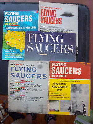 Flying Saucer / UFO Magazines Lot of 5 Look Dell UFO Report vol 1-4. One owner
