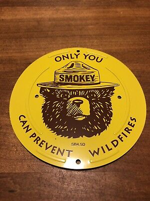 US Forest Service Smokey Bear ONLY YOU CAN PREVENT WILDFIRES metal sign new