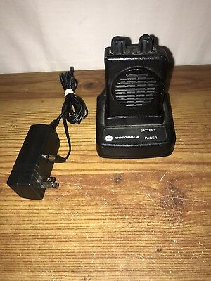 Motorola Minitor V Pager - Free Programming VHF 151-158.9975 2 CH SV w/Charger