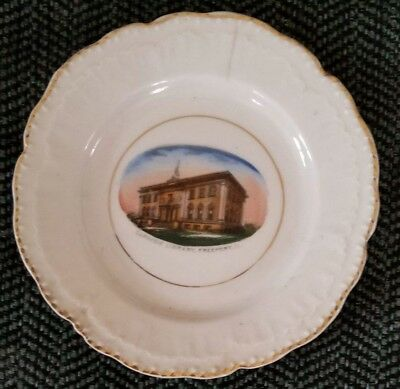 1900? Freeport, IL Carnegie Library Plate W.C. Ruch's 5& 10 Cent Store City Hall