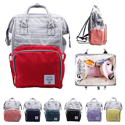US Mummy Maternity Nappy Diaper Bag Large Capacity Baby Bag Travel Backpack