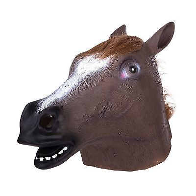 Latex Horse Head Mask Unicorn Pigeon Chicken Rabbit Halloween Party