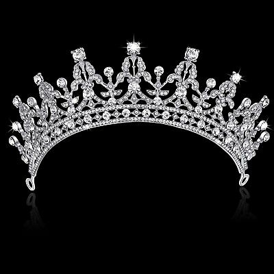 Princess Bridal Rhinestone Crystal Wedding Hair Tiara Crown Prom Headband
