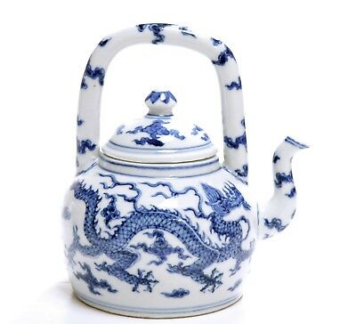 A Very Fine Chinese Blue and WhitePorcelain Teapot