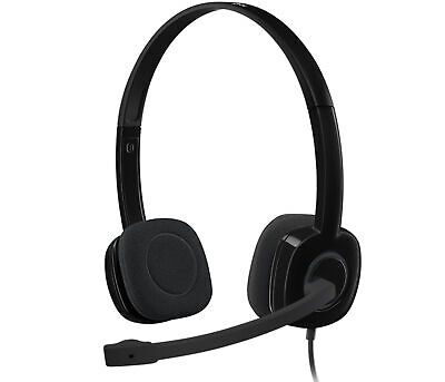 Logitech 1.8M Wired H151 Stereo Over-Ear Gaming Headphone Headset with Mic