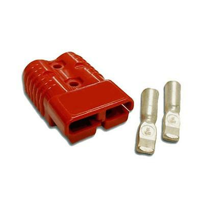 50 amp Anderson Plug Red (Single) + 2 Contacts Suitable for 6 B&S, 8 B&S