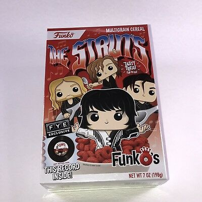 "Funko The Struts FunkOs Cereal FYE Exclusive With 7"" Vinyl In Hand Ready To Ship"