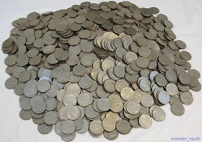 Lot of 1284 Eisenhower Dollar Coins 1971 1972 1974 1976 1977 1978 Circulated Ike