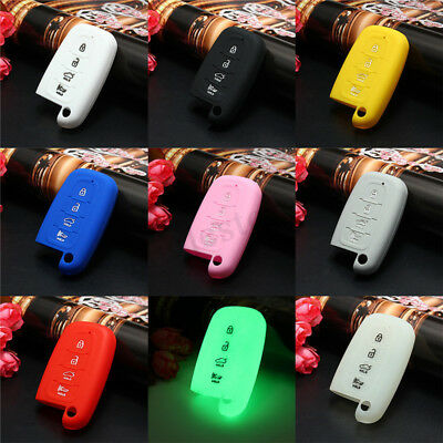 4 Button Silicone Entry Remote Key Fob Cover Holder Case Skin Shell For
