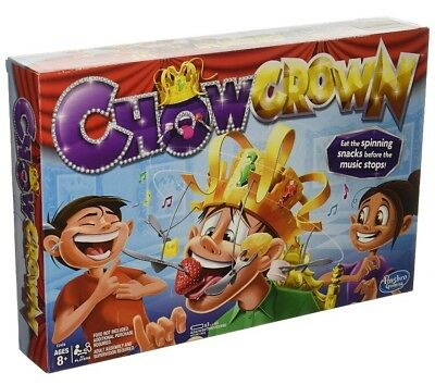 Chow Crown game Family Party Game Hat Fun Toys Musical Food Challenge Games