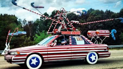 1991 Toyota Camry LE Worlds slowest rocket powered candy cane camry