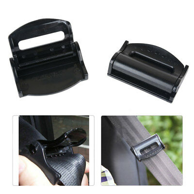 2X Car Seat Belt Adjuster Clip Safety Belt Strap Clamp Extender  Buckle Stopper