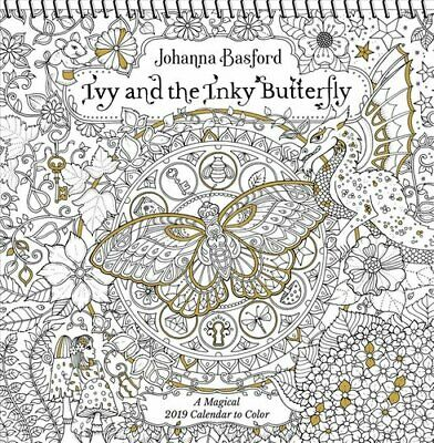 Ivy and the Inky Butterfly 2019 Coloring Wall Calendar A Magica... 9781449492458