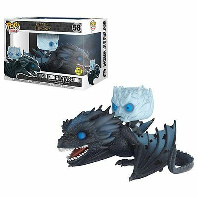 "Funko Pop! Rides Game of Thrones NIGHT KING on WIGHT VISERION 7"" (GitD)"