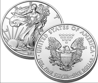 WALKING LIBERTY SILVER BULLION COIN USA AMERICAN EAGLE 1oz 2012 IN CAPSULE