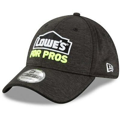 eb07637aac3 New Era Jimmie Johnson Black Driver Lowe s for Pros 39THIRTY Flex Hat