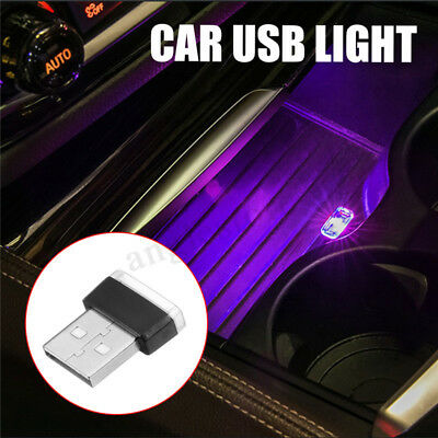Purple USB Wireless Flexible Neon Ambient LED light For Car Interior