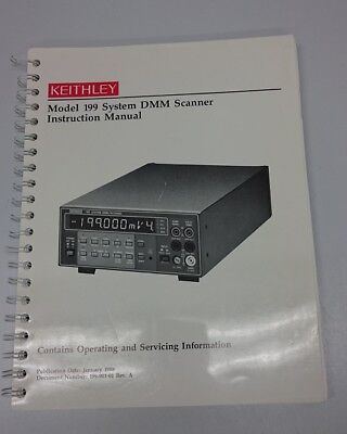 Keithley Model 199 System DMM Scanner - Instruction Manual