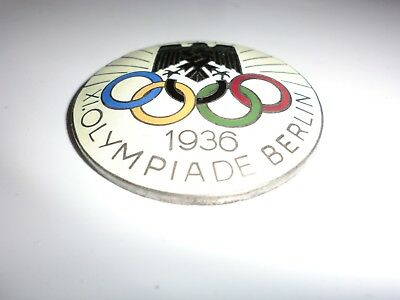 1936 olympics badge enamel front maker marked to rear with pin.