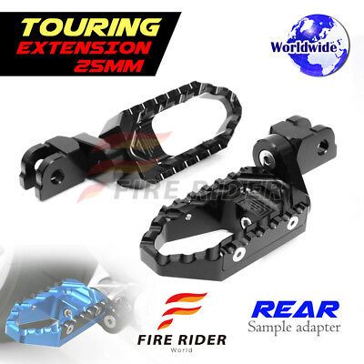 For Ducati 748 /S/R All Year 25mm Riser BK CNC Touring Rear Footpegs