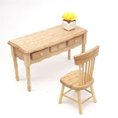 1:12 Dollhouse Miniature Furniture Study Room Wooden Desk Drawer Can Open ♫
