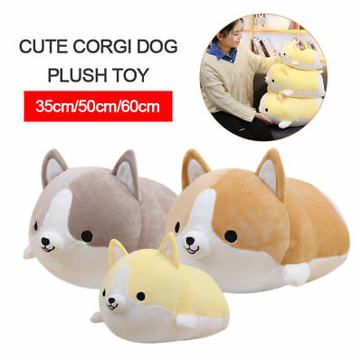 US 35/50/60CM Cute Corgi Dog Plush Toy Stuffed Soft Animal Cartoon Pillow Kawaii