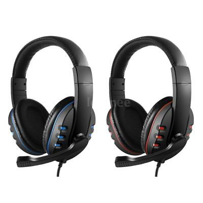 Gaming Headset Stereo Surround Headphone 3.5mm Wired Mic For PS4 Laptop Xbox PC
