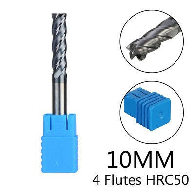 4 flutes End Mill 10mm Tungsten Carbide End Mill 75mm Length Flat Bottom Useful