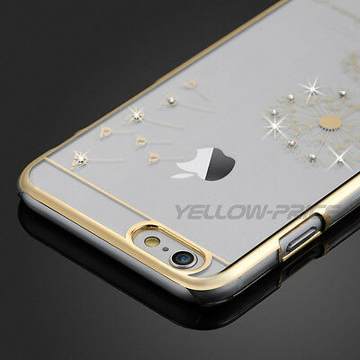 Luxury Crystal Diamond Transparent Back Case Cover For Apple iPhone 6 6s Plus
