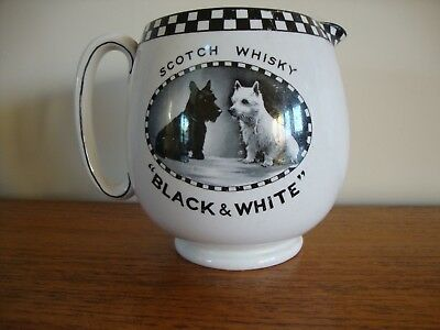 """A Rare """"black And White"""" Scotch Whisky Water Jug 1930's."""
