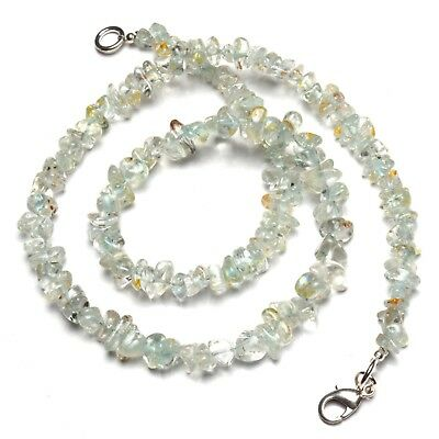 Natural Gem Goshenite Rough 4 to 8MM Size Uncut Chips Beads Necklace 17""