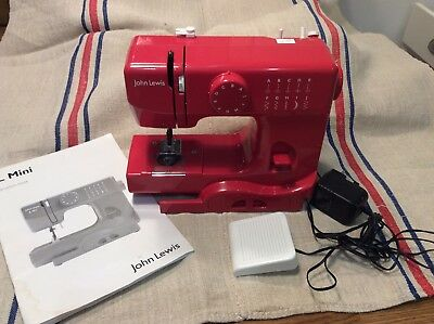 John lewis Mini Red Sewing Machine